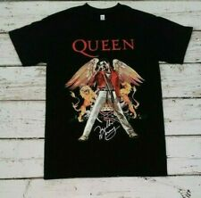 NEW - QUEEN - FREDDIE  MERCURY- Red Jacket - Autograph  BAND  T-SHIRT