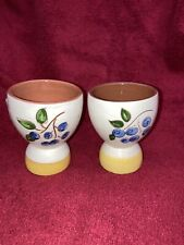 LOT of Two (2)    STANGL    Blueberry Egg Cups .