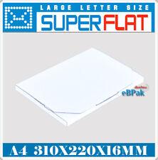 50x Mailing Box - Superflat A4 310x220x16mm #04 Size Rigid Envelope Mailer