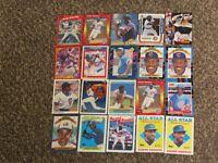 Andre Dawson 20 Card Topps Fleer Donruss 1988 1980s-1990s Chicago Cubs HOF Lot