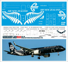 1/144 PAS-DECALS ZVEZDA REVELL Airbus A 321 NEO Air New Zealand Black