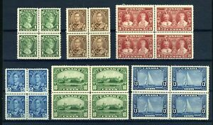 CANADA Scott 211 to 216 - NH BLKs of 4 - Complete Set of Silver Jubilee (.020)