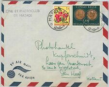 62423 - BELGIAN CONGO Belge - POSTAL HISTORY: COVER to HOLLAND 1955 - Flowers