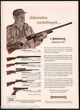 1963 BROWNING Auto 5 Superposed Double Automatic SHOTGUN HighPower RIFLE AD