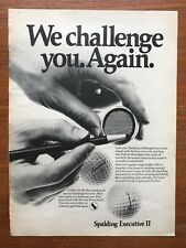 Vintage 1968 Spalding Executive II Golf Ball Print Advertisement Ad