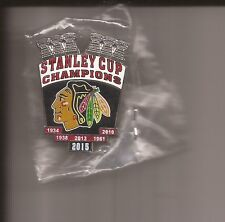 CHICAGO BLACKHAWKS Stanley Cup Champions Pin 2015 -  NEW