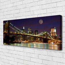Leinwand-Bilder Wandbild Canvas Kunstdruck 125x50 Brücke Architektur