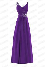 New Chiffon Bridesmaid Formal Ball Gown Party Cocktail Evening Prom Dresses6-28