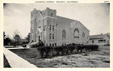 Lutheran Church, Turlock, California Vintage Postcard ca 1920s
