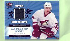 LADISLAV NAGY 2006-07 FLEER ULTRA UNIFORMITY GAME WORN JERSEY PHOENIX COYOTES
