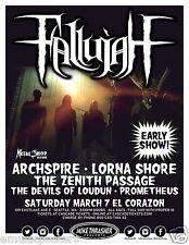 Fallujah / Archspire 2015 Seattle Concert Tour Poster - Progressive Death Metal