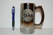 NASA Kennedy Space Centre Beer Mug Glass with Chrome Coating