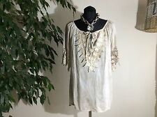 Damenblusen,-Tops & -Shirts im Blusen-Stil mit Rundhals und Baumwollmischung für Freizeit