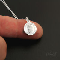 Sterling silver Saint Anthony Necklace Medal Pendant charm christian jewel N118