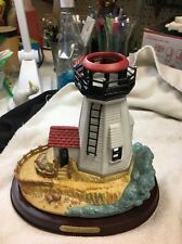PartyLite Plymouth Light Lighthouse Tealight Candle Holder P7796 Retired Nrfb
