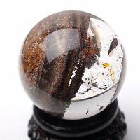50mm Natural Phantom And gumflower Quartz Crystal Ball SPHERE Specimen