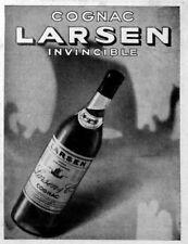 """TIN SIGN  """"Larsen Cognac"""" Liquor Mancave Wall Decor"""
