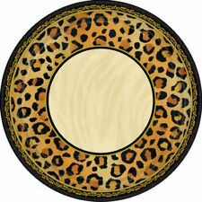 SAFARI CHIC Paper Plates Pack of 8 Party Supplies Tableware Animal Print
