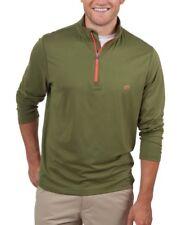 Southern Tide T3 Men's Cypress Green Pop Color 1/4 Zip Performance T-Shirt