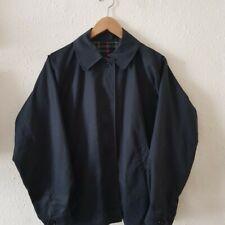 Navy Burberry jacket nova check lining