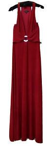 Vintage Designer Lillie Rubin Gown Long Dress Red Size 4
