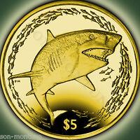 2016 Lemon Shark - 990 Yellow TITANIUM Coin in BOX+COA British Virgin Islands $5