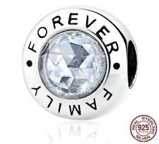 Forever Family Charm 925 Sterling Silver ideal Christmas gift + free gift bag