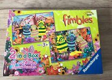 CBEEBIES BBC THE FIMBLES - 2 X RAVENSBURGER JIGSAW PUZZLES - 12 & 24 PIECES VGC