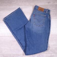 """Womens LEVIS 10529 Bootcut 29""""W 34""""L Vintage Blue Denim Jeans #A3440"""