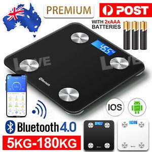 Body Scales Wireless Digital Bathroom Fat Scale Bluetooth  Weight BMI Water AU