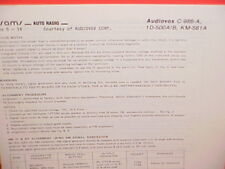 1978 AUDIOVOX 8-TRACK/AM-FM/MPX RADIO SERVICE MANUAL C-986-A 1D-500A/B KM-561A