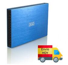 "Carcasa caja externa Disco Duro/SSD 2.5"" SATA USB AZUL ENVIO HOY"