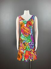 RALPH LAUREN Dress Sz 4 Multi Color Floral Printed Shift Ruffled V Neck NEW