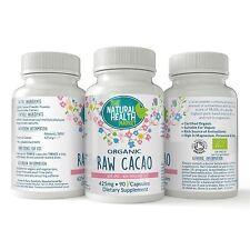 Organic Cacao 425mg 90 Capsules • Full Spectrum Raw Antioxidant Formula