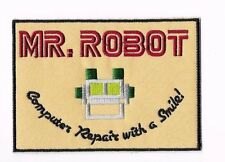 MR ROBOT Iron on / Sew on Patch Embroidered Badge Motif TV Computer Tech PT156