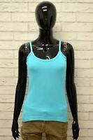 Maglia FILA Donna Taglia Size 44 Maglietta Canotta Shirt Woman Cotone Blu Slim