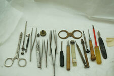 VINTAGE WATCH REPAIR TOOLS AWL CALIPER TWEEZER WATCHMAKER CLOCKMAKER JEWELERS