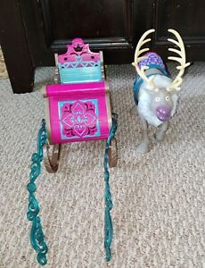 Disney Frozen Sven Figure with Pink Sleigh Play Set
