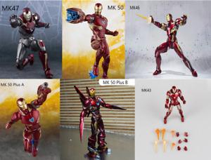 S.H.Figuarts SHF Iron Man Mk42 MK43 Mk46 MK47 Tony Stark Action Figure MK50 Toys