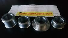 HONDA CBR600 F3 1995 - 1998 Captive wheel Spacers. Full set. Silver