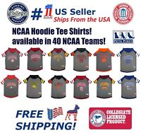 NCAA HOODIE TEE for DOGS & CATS Licensed Football/Basketball Hoody Tee Shirt.