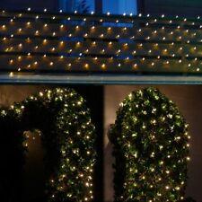 Lichternetz 4x1 m für außen Balkon Weihnachten 160 LED warmweiß Strom