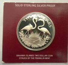 Bahamas 1975 Flamingo 2 Dollars Silver Coin,Proof