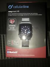 Orologio Cellularline EasySMART HR NERO Smartwatch IPHONE ANDROID
