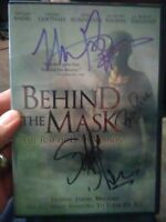 Autograph signed DVD Behind the Mask signed 3x