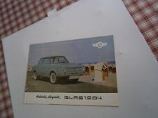 Catalogue pub auto prospectus voiture Glas 1204 berline coupé et cabriolet