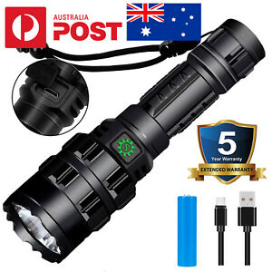 90000lm USB Rechargeable 18650 Tactical Military P50 LED Police Flashlight Torch