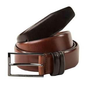 HUGO BOSS Men's Belt Carmello Real Leather With Metal Buckle Medium-Brown