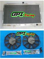 Aluminum Radiator +FAN Mitsubishi 3000GT/GTO 1991-1999 MT VR-4 Spyder 3.0 Turbo