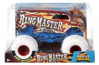 Hot Wheels Monster Jam Trucks Ring Master Giant White Wheels 1:24 Free Shipping